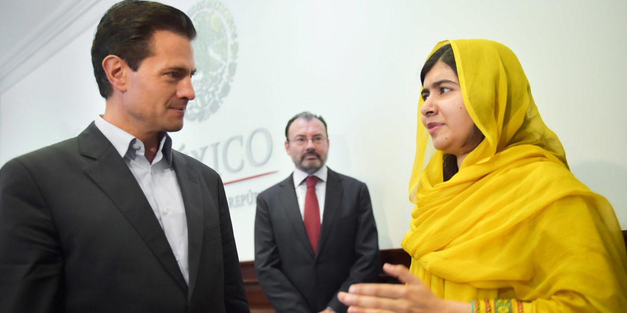 Se reúne Peña Nieto con Malala Yousafzai en Los Pinos