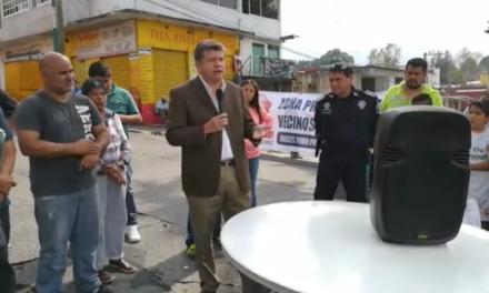 Vecinos de la Progreso exponen sus quejas ante Manuel Meza, Coordinador Municipal Seguridad Pública