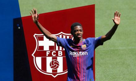 Dembélé ya se puso la camiseta del Barcelona