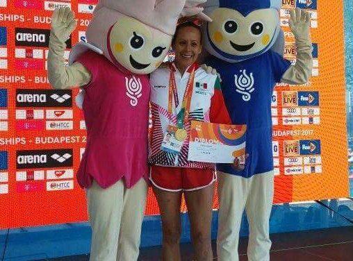 Laura Vaca, gana oro en el XVII Campeonato Mundial Masters de Budapest