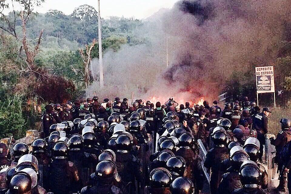 Desalojan a campesinos del Predio San José de la Palma en Misantla