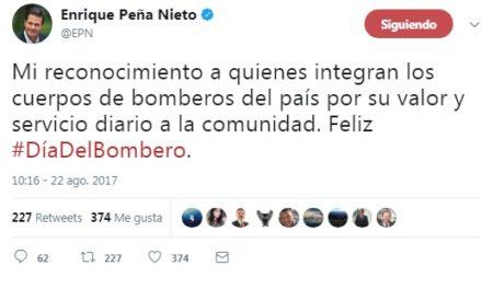 Peña Nieto felicita a los bomberos de México en su Día