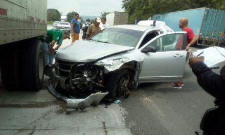 Se registra choque múltiple en la carretera Tuxpan-Tampico; hay tres lesionados