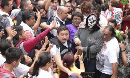 Galería: Realizan la tradicional peregrinación a la Basílica de Guadalupe luchadores de la AAA
