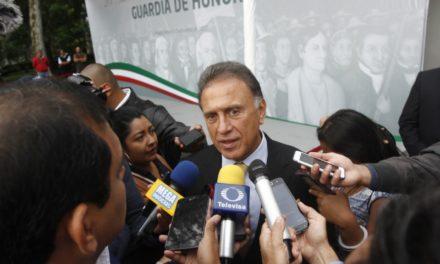 Sin reportes de violencia ceremonia de Grito Independencia: Yunes