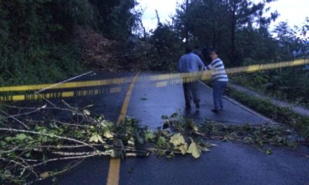 Cerrado camino a Zongolica; se deslavó un cerro debido a lluvias