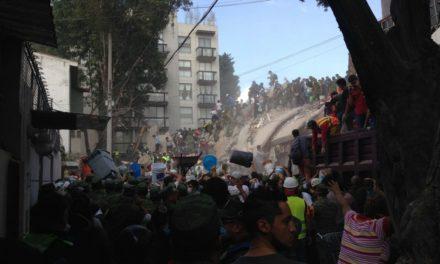 México agradece apoyo internacional tras sismo