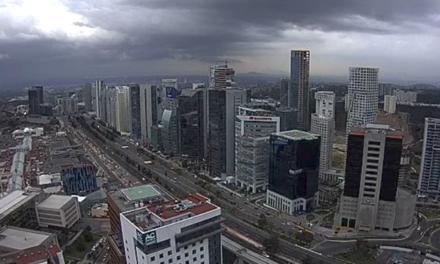 Se registra ya intensa lluvia en la Ciudad de México
