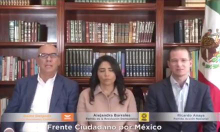 Video: Frente Ciudadano por México, a favor de que 100% de dinero de partidos se done a víctimas de sismo