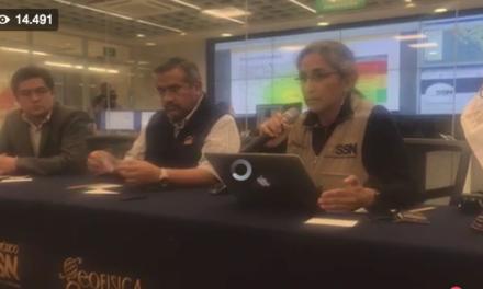 VIDEO: Conferencia de prensa del SSN; sismo de 6.1 de hoy, es una réplica del de 8.2