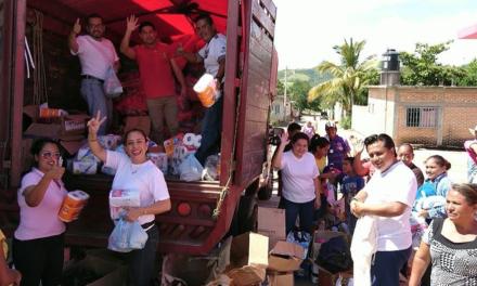 GALERÍA: Los víveres recolectados en Coatepec llegaron a los afectados del sismo en Puebla