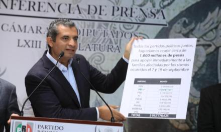PRI formaliza renuncia a 258 mdp ante la autoridad electoral; propone eliminar pluris también