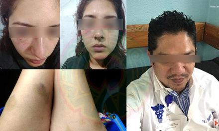 FOTOS: Mujer golpeada por trabajador de gobierno exige justicia; defendía a una amiga, relata