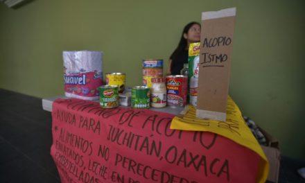 Continúa la colecta para damnificados de Oaxaca