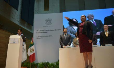Toma protesta Sara Ladrón de Guevara como rectora 2017-2021