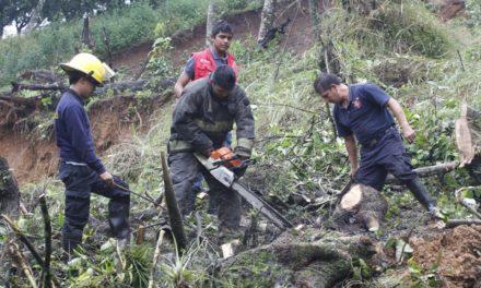 Inician labores de limpieza pobladores de la Laguna mpio de Coatepec en camino a pacho