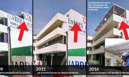 Entre 2009 y 2016 construyeron un departamento con mármol y acero sobre Colegio Rébsamen
