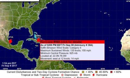 """Amenaza""""Irma"""" a Cuba y Bahamas"""