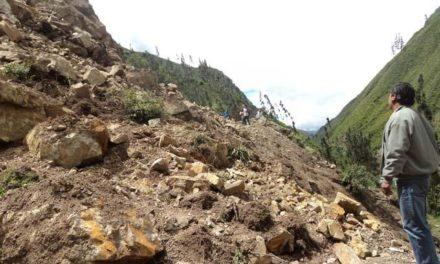 Se registra derrumbe en la carretera Cumbre de Tuxpango-Campo Chico