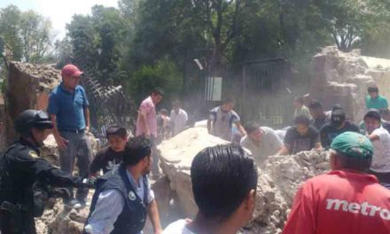 Se derrumba parroquia de San Bernardino en Xochimilco