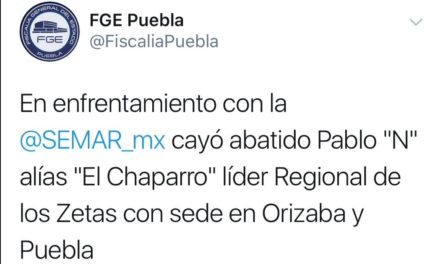Abaten a líder regional de los Zetas en Orizaba y Puebla