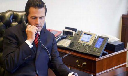Regresa Peña Nieto a la CDMX tras sismo; convoca a reunión