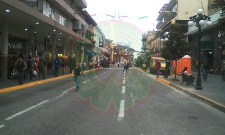 Cerrado, centro histórico de Xalapa por preparativos para festejos del 15 y 16 de septiembre