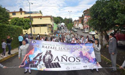 Celebra telesecundaria Dr. Rafael Lucio Nájera su 40 aniversario