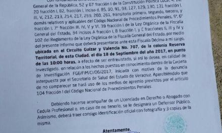 Cita la Fiscalía General del Estado al ex gobernador Fidel Herrera Beltrán