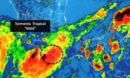 Max se degrada a Tormenta Tropical