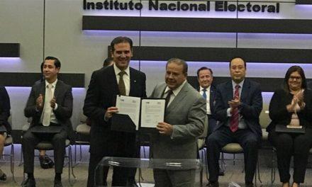 Firman INE y OPLEV convenio de apoyo y colaboración para proceso electoral 2017-2018