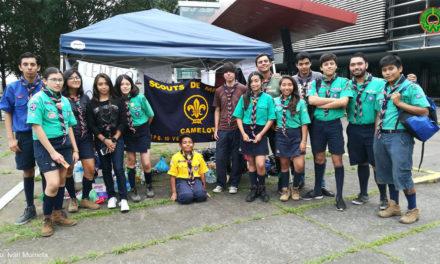 VIDEO Y GALERÍA: Scouts de Xalapa instalan centro de acopio afuera del Teatro del Estado