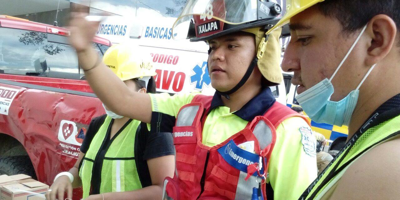 Audio: Apoyan en centros de acopio de CDMX personal de PC, Urgencias Médicas Xalapa y Código Bravo