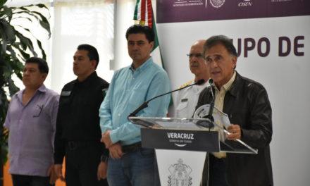 Informa Gobernador que incidencia delictiva ha incrementado en la zona sur de Veracruz
