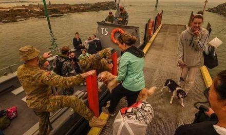 Evacuan a turistas y australianos en Buques, del tamaño de Dinamarca, daños por los incendios en Australia