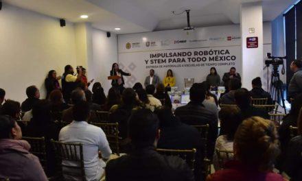 """Presenta SEV proyecto piloto """"Impulsando Robótica y STEM para todo México"""""""