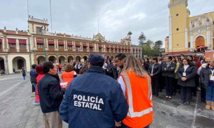 Realizan en Xalapa macro simulacro sin incidentes