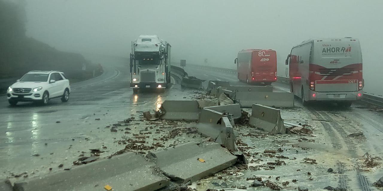 Precaución accidente de tránsito en la carretera Xalapa- Perote, a la altura del km 138