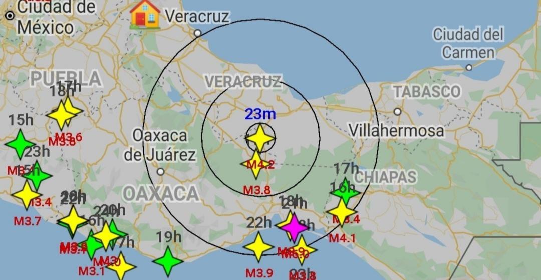 Vuelve a temblar, fue de 4.2 en Sayula de Alemán, Veracruz