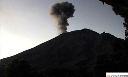 136, las exhalaciones del Popocatépetl en las últimas 24 horas
