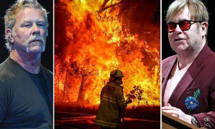 Metallica y Elton John donarán dinero para ayudar a las víctimas de los incendios en Australia