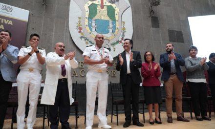 El gobernador de Veracruz Cuitláhuac García Jiménez reconoció a las enfermeras y enfermeros de Veracruz