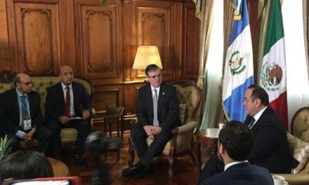 Recibe Presidente de Guatemala a Ebrard Isabella González