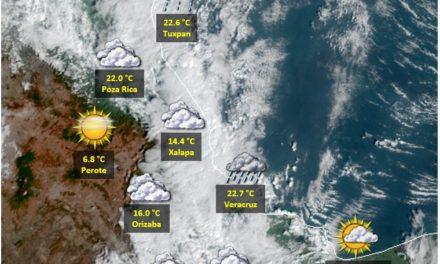 Se prevé poco cambio en las temperaturas, continuando el cielo medio nublado a nublado con potencial para lluvias aisladas ligeras a moderadas