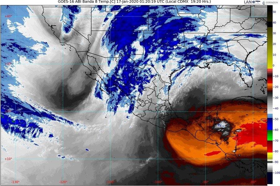 Para la noche de hoy se pronostican lluvias fuertes en Chiapas, Coahuila, Puebla, San Luis Potosí y Veracruz