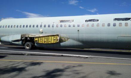 Llega a Orizaba Boeing 727 será usado como museo