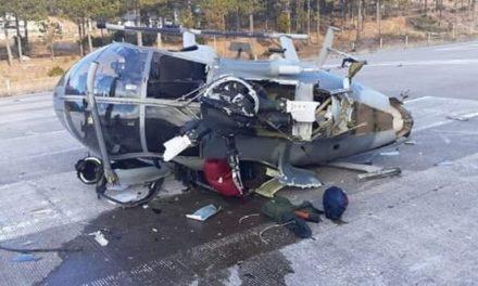 Resultan dos elementos de la SEDENA lesionados en desplome de Helicóptero