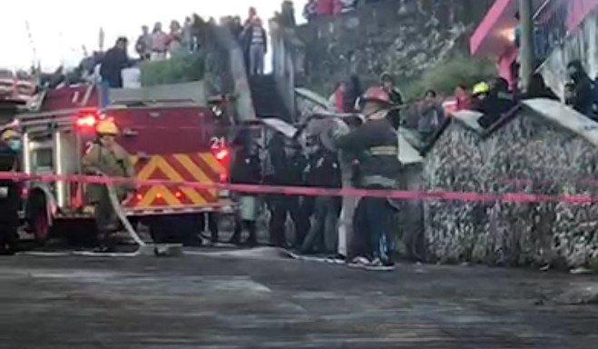 Se registra incendio en la Colonia Porvenir II en Xalapa