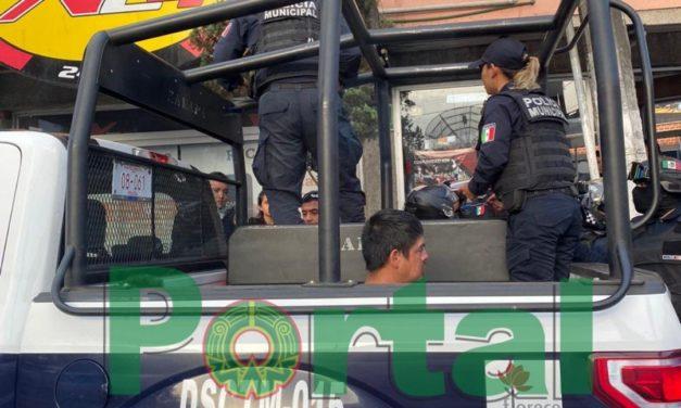 Detiene la SSP a un asaltante del X24 en la avenida Murillo Vidal en Xalapa