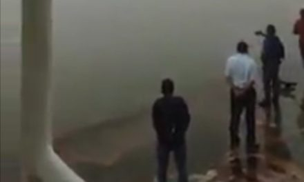 Esta mañana un Transbordador perdió el  rumbo en el río Coatzacoalcos por banco de niebla.